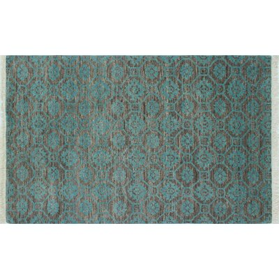 Leann Hand-Knotted Blue Wool Indoor Area Rug