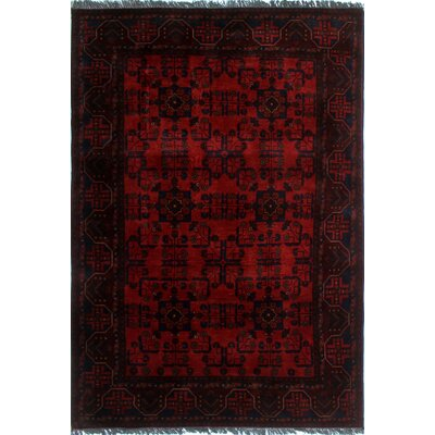 One-of-a-Kind Alban Hand-Knotted Rectangle Red Oriental Area Rug