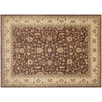 Leann Hand-Knotted Oriental Rectangle Brown Area Rug