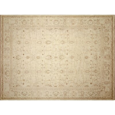 One-of-a-Kind Lahore Kenje Hand-Knotted Ivory Area Rug