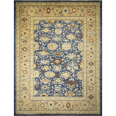 One-of-a-Kind Leann Hand-Knotted Oriental Blue Area Rug