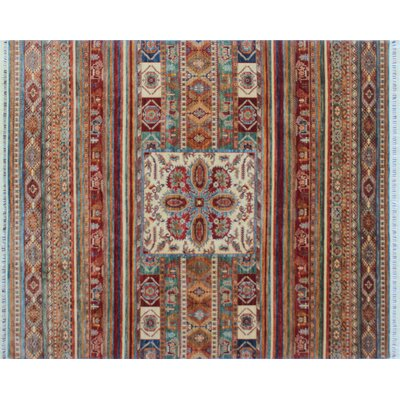Acer Indoor Hand-Knotted Red Premium Wool Area Rug