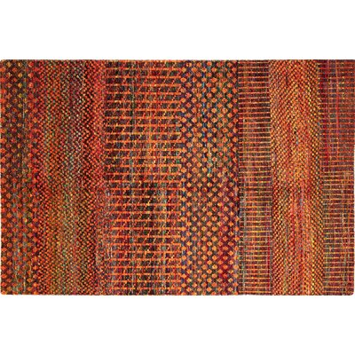 One-of-a-Kind Sari Silk Van Hand-Knotted Rust Area Rug