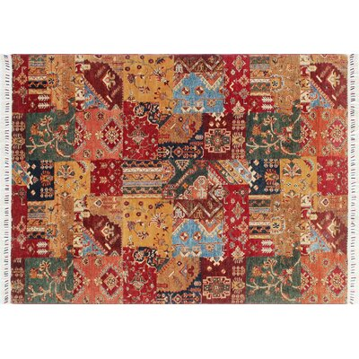 Acer Hand-Knotted Gold Area Rug