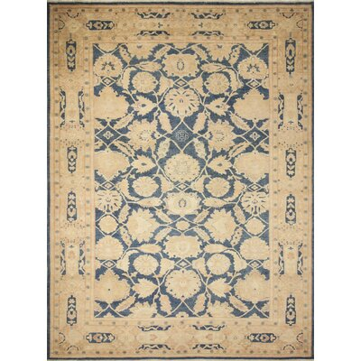 Leann Hand-Knotted Oriental Blue Indoor Area Rug