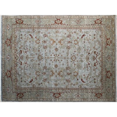 One-of-a-Kind Leann Hand-Knotted Gray Area Rug