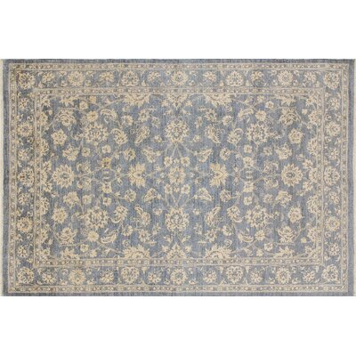 One-of-a-Kind Leann Hand-Knotted Oriental Gray Indoor Area Rug