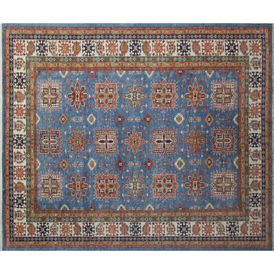 Kazak Super Aidan Hand-Knotted Blue Area Rug