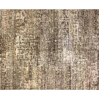 One-of-a-Kind Sari Silk Ashly Hand-Knotted Beige Area Rug