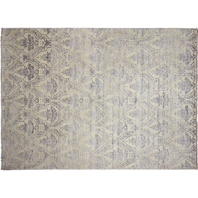 Bellview Loom Hand-Knotted Rectangle Ivory Area Rug