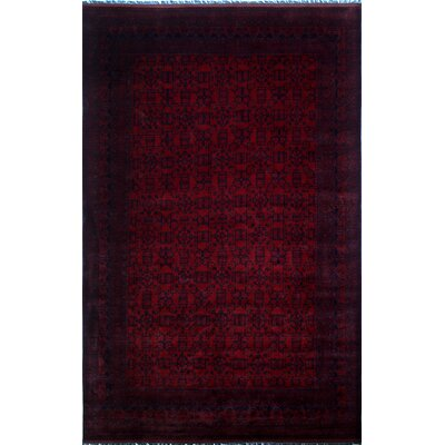 Alban Tribal Hand-Knotted Red Area Rug