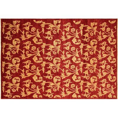 Montague�Hand-Knotted Red/Gold Area Rug