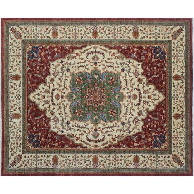 One-of-a-Kind Kazak Super Gulbahram Hand-Knotted Red Area Rug N1435