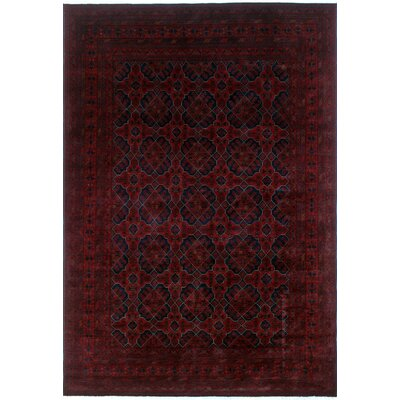 One-of-a-Kind Alban Hand-Knotted Rectangle Red Fringe Area Rug