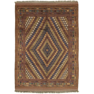 Karghi Becket Hand-Knotted Rust Area Rug