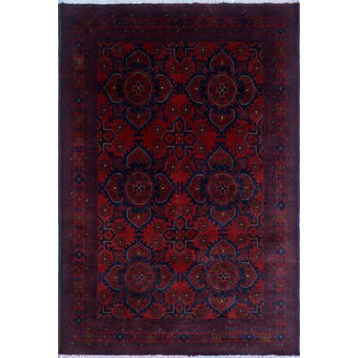 One-of-a-Kind Alban Fringe Hand-Knotted Red Indoor Premium Wool Area Rug