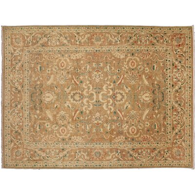 One-of-a-Kind Leann Hand-Knotted Light Brown Wool Area Rug