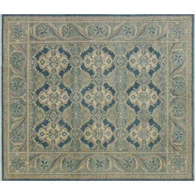 One-of-a-Kind Leann Hand-Knotted Blue/Gray Wool Area Rug
