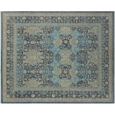 One-of-a-Kind Leann Hand-Knotted Charcoal Indoor Area Rug