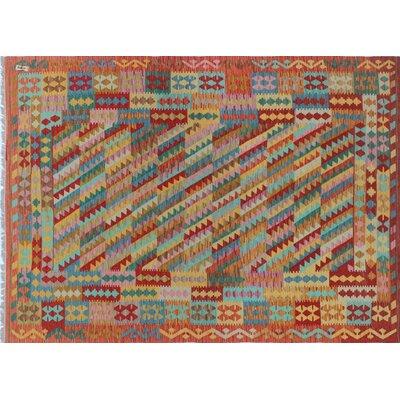 Kilim Saima Hand-Woven Rust Area Rug