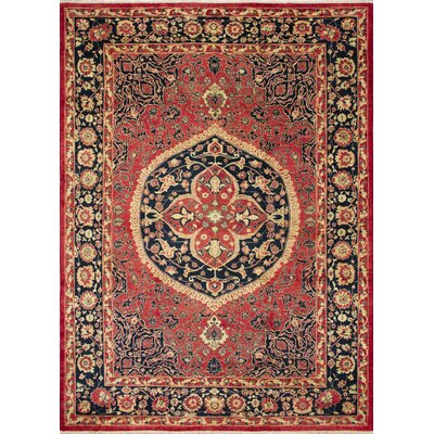 Montague�Hand-Knotted Red/Black Area Rug