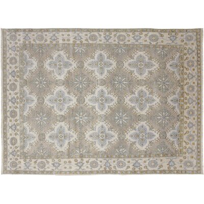 Oushak Super Fine Farhod Hand-Knotted Brown Area Rug