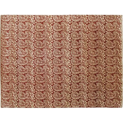 Bellview Hand-Knotted Rust Area Rug