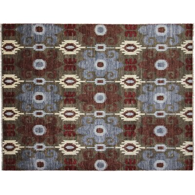 Bellview Hand-Knotted Rectangle Brown Area Rug