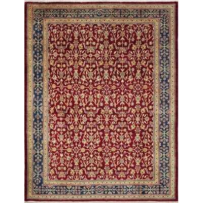 One-of-a-Kind Leann Hand-Knotted Red Area Rug