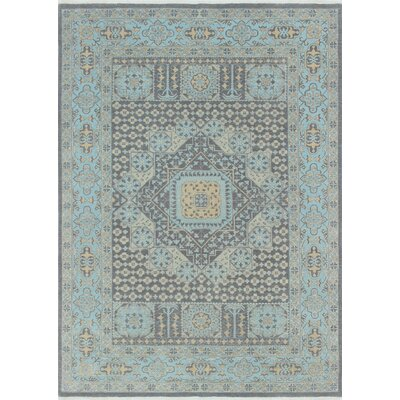 Rosewood Hand-Knotted Gray Indoor Area Rug