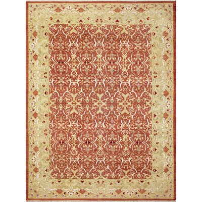 One-of-a-Kind Leann Hand-Knotted Oriental Rust Area Rug