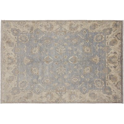 One-of-a-Kind Leann Hand-Knotted Rectangle Gray Wool Indoor Area Rug