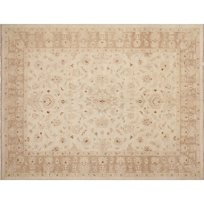 One-of-a-Kind Leann Hand-Knotted Oriental Ivory Premium Wool Indoor Area Rug