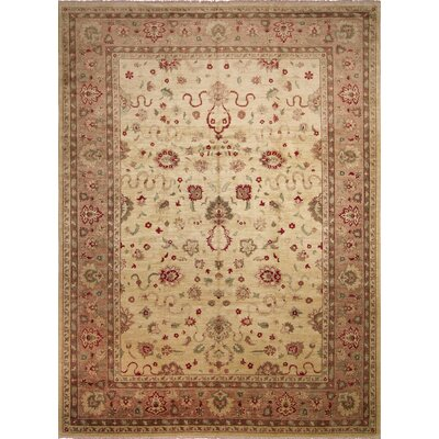 Leann Hand-Knotted Ivory Premium Wool Area Rug