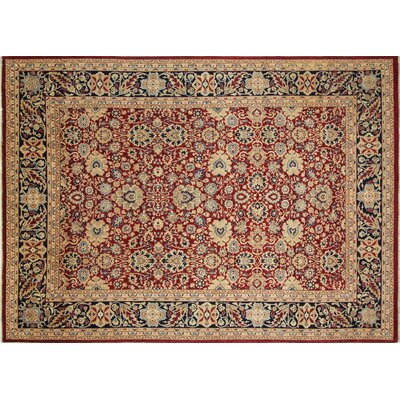 Versailles Sherman Hand Knotted Wool Red Area Rug Rug Size: Rectangle 811 x 1111
