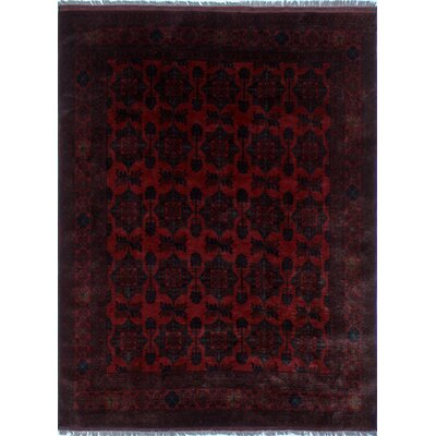 Alban Oriental Hand-Knotted Red Area Rug