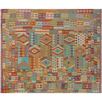 Kilim Friend Hand-Woven Rust Area Rug