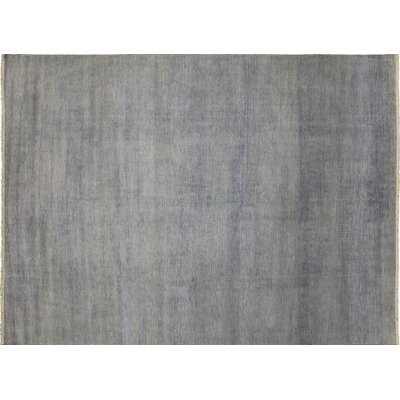 One-of-a-Kind Grass Super Fine Shahdi Hand-Knotted Gray Area Rug