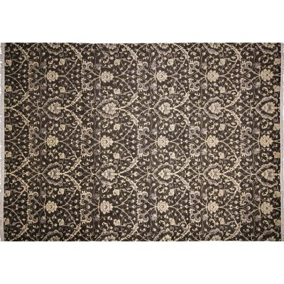 One-of-a-Kind Montague�Hand-Knotted Charcoal Area Rug