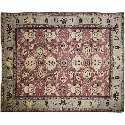 One-of-a-Kind Leann Hand-Knotted Aubergine Area Rug