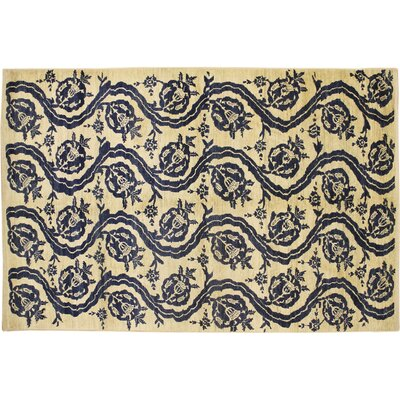 One-of-a-Kind Montague�Modern Hand-Knotted Ivory Area Rug
