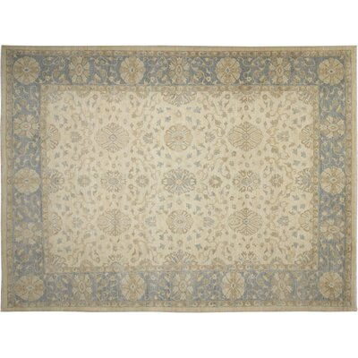 Leann Hand-Knotted Oriental Ivory Area Rug