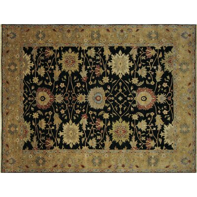 One-of-a-Kind Mahal Saif Hand-Knotted Black Area Rug