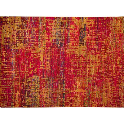 One-of-a-Kind Sari Silk Kamdyn Hand-Knotted Rust Area Rug
