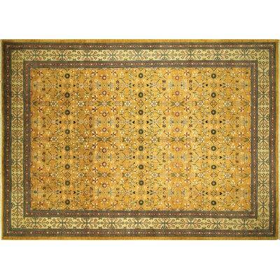 Aidric Hand-Knotted Gold Area Rug