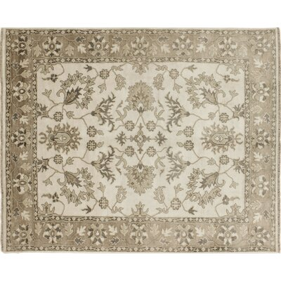 One-of-a-Kind Viscose Mehrdad Hand-Knotted Ivory Area Rug