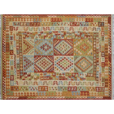 One-of-a-Kind Kilim Adeel Hand-Woven Ivory Area Rug