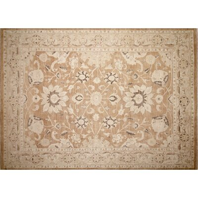 One-of-a-Kind Lahore Aktoty Hand-Knotted Light Brown Area Rug