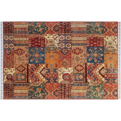 One-of-a-Kind Acer Hand-Knotted Rust Rectangle Area Rug