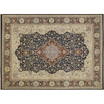 Versailles Sheldon Hand Knotted Wool Blue Area Rug Rug Size: Rectangle 8'10
